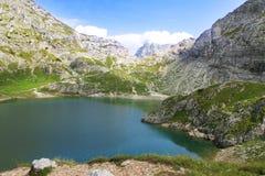 Alpien meer Stock Afbeelding