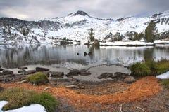 Alpien Meer, Wallowa Bergen, Oregon stock foto