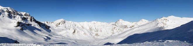 Alpien panorama stock foto's