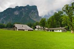 Alpien Platteland stock fotografie