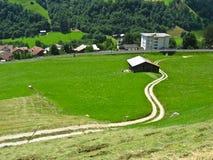Alpien platteland in Zwitserland, Europa royalty-vrije stock fotografie