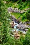 Alpien ril en mountainebos in het Nationale Park van Ordesa Royalty-vrije Stock Fotografie