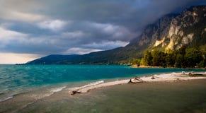 Alpien zout meer Stock Foto's
