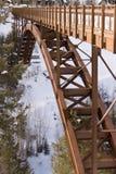 Alpiene Brug in de Winter stock fotografie