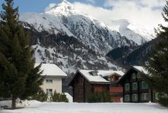 Alpiene Chalets stock fotografie