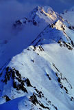 Alpiene Dawn stock foto's