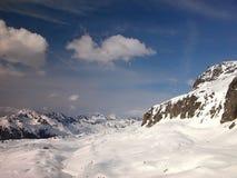Alpiene hellingen Stock Foto's