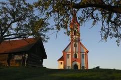 Alpiene kapel Royalty-vrije Stock Afbeeldingen