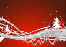 Alpiene Kerstmisillustratie Stock Illustratie