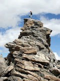 Alpiene Klimmer - Montana royalty-vrije stock foto