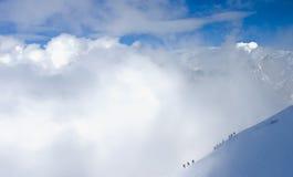 Alpiene klimmers Stock Foto