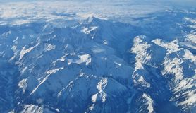 Alpiene luchtmening stock fotografie