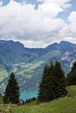 Alpiene mening Royalty-vrije Stock Afbeeldingen