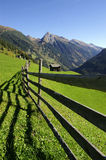 Alpiene Omheining Royalty-vrije Stock Foto's