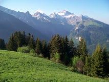 Alpiene pieken Stock Foto