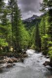 Alpiene rivier Stock Afbeelding