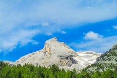 Alpiene roky piek royalty-vrije stock foto