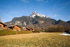 Alpiene Scène, Frankrijk stock afbeelding