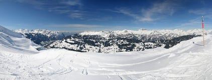 Alpiene skitoevlucht royalty-vrije stock afbeeldingen