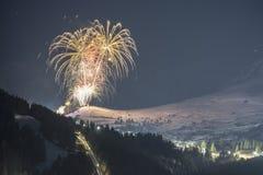 Alpiene skitoevlucht Serfaus Fiss Ladis in Oostenrijk Stock Foto's