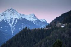 Alpiene skitoevlucht Serfaus Fiss Ladis in Oostenrijk Royalty-vrije Stock Afbeeldingen