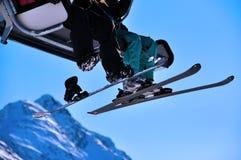 Alpiene Stoeltjeslift Royalty-vrije Stock Fotografie