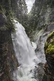 Alpiene Waterval Royalty-vrije Stock Afbeelding