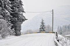 Alpiene weg royalty-vrije stock fotografie