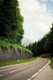 Alpiene weg Stock Afbeelding
