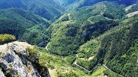 Alpiene weg in de Rhodope-Berg, Bulgarije Royalty-vrije Stock Afbeeldingen
