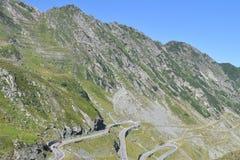 Alpiene weg Transfagarasan in Roemenië Stock Afbeelding