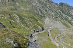 Alpiene weg Transfagarasan in Roemenië Royalty-vrije Stock Foto