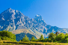 Alpiene Weiden Hogere Svaneti, Georgië, Europa Royalty-vrije Stock Foto's