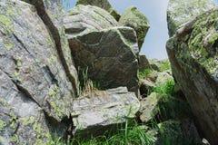 Alpiene weiden Taganay Royalty-vrije Stock Foto's