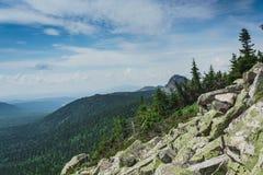 Alpiene weiden Taganay Stock Afbeelding