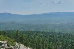 Alpiene weiden Taganay Stock Foto