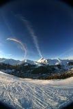 Alpiene zonsondergang 1 royalty-vrije stock afbeeldingen