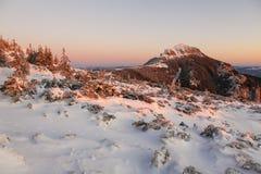 Alpiene zonsopgang in Ceahlau Royalty-vrije Stock Afbeeldingen