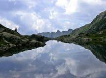 alpin λίμνη Στοκ Εικόνες