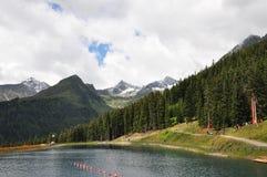 alpin alpsÖsterrike lake Royaltyfria Bilder
