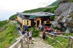 alpin chalet Arkivfoton