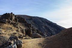alpin crossingtongariro Arkivfoton