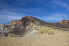 alpin crossingtongariro Arkivfoto