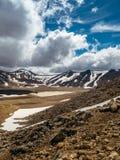 alpin crossingtongariro Royaltyfri Bild