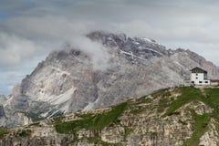 ` Alpin d'Auronzo de ` de hutte des dolomites, Alpes européens, Italie images libres de droits
