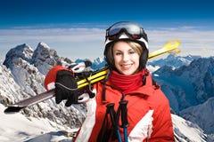 Alpin do esqui Imagem de Stock Royalty Free
