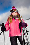 Alpin do esqui Fotografia de Stock Royalty Free