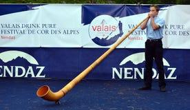 alpin festivalhorn Arkivbilder