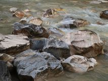 Alpin flod Grießbach Fotografering för Bildbyråer