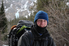 alpin fotvandrare montana Royaltyfria Bilder
